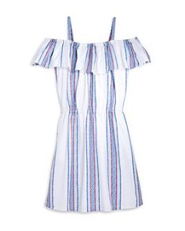 AQUA - Girls' Cold-Shoulder Striped Dress, Big Kid - 100% Exclusive