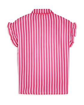 AQUA - Girls' Striped Ruffle Top, Big Kid - 100% Exclusive