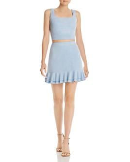 AQUA - Faux Suede Top & Skirt Set - 100% Exclusives