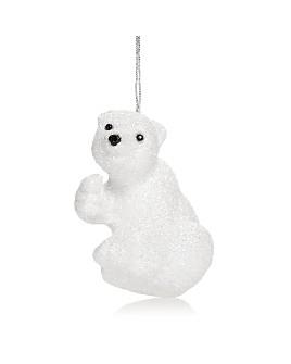 Bloomingdale's - Glitter Polar Bear Ornament - 100% Exclusive