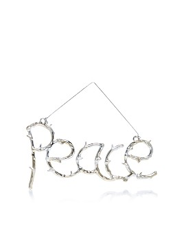 "Bloomingdale's - Wire ""Peace"" Ornament - 100% Exclusive"