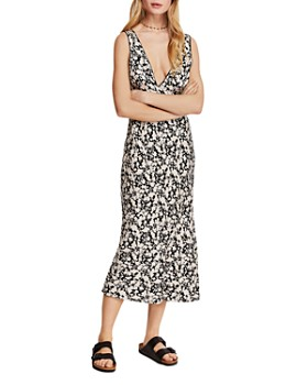 Free People - Ohh La La Bias-Cut Midi Dress