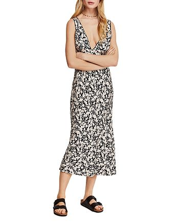 Free People - Ohh La La Bias-Cut Midi Dress
