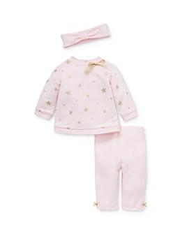 Little Me - Girls' Star Print Sweatshirt, Leggings & Headband Set - Baby