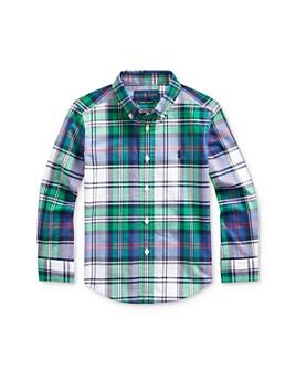 Ralph Lauren - Boys' Plaid Stretch Button-Down Shirt - Little Kid