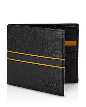Ted Baker - Trave RFID Block Striped Bifold Wallet