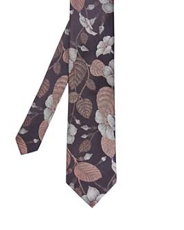 Ted Baker - Fluro Floral Silk Skinny Tie