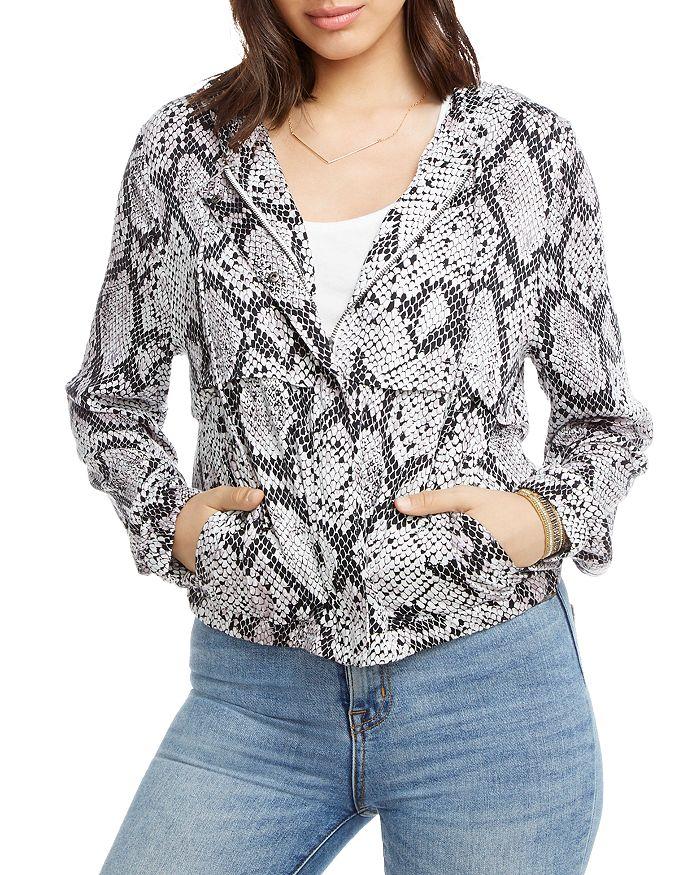 CHASER - Snake Print Hooded Jacket