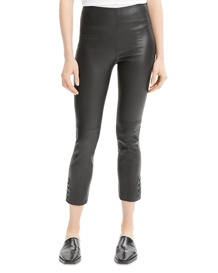 Theory - Cropped Leather Pants