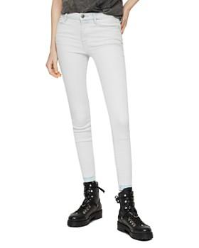 4feb25a614d894 ALLSAINTS - Grace Released-Hem Cropped Skinny Jeans in Bleach Indigo ...