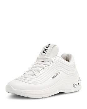 Miu Miu - Women's Crystal-Embellished Chunky Sneakers