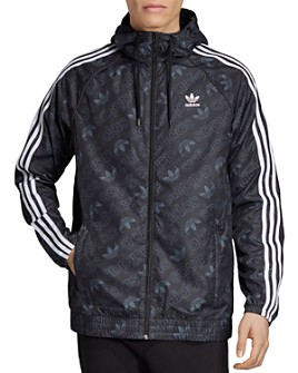 adidas Originals - Mono Logo-Print Windbreaker Jacket