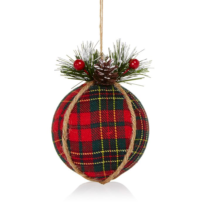Bloomingdale's - Plaid & Twine Ball Ornament - 100% Exclusive
