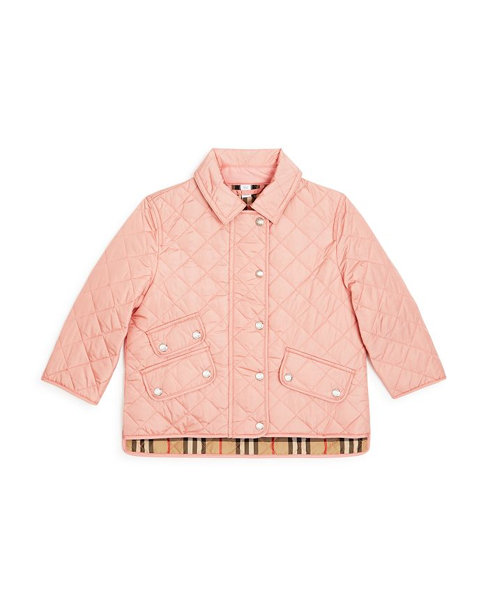 Burberry Girls' Brennan Quilted Jacket - Little Kid, Big Kid In Pink