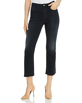 FRAME -  Le Cropped Mini Boot Raw-Edge Jeans in Marcella