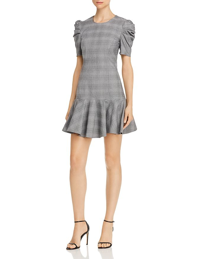 Amanda Uprichard Bekah Plaid Mini Dress In Glen Plaid