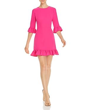 Amanda Uprichard Candice Ruffle Trimmed Mini Dress