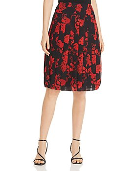 Tory Burch - Pleated Floral-Print Skirt