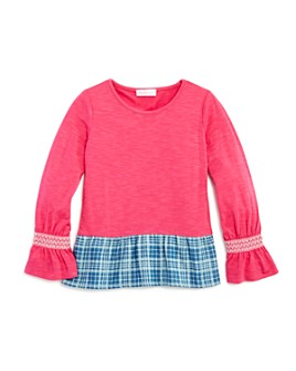 Design History - Girls' Chambray-Hem Top - Little Kid