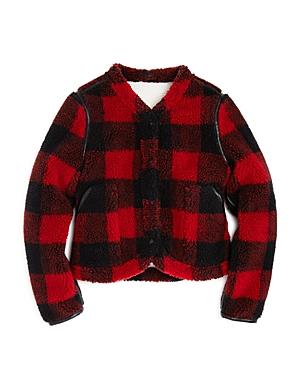 Blanknyc Girls' Plaid Sherpa Jacket - Big Kid