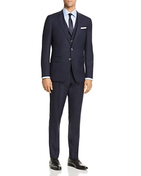 BOSS - Hutson/Gander Graphic Solid 3-Piece Slim Fit Suit