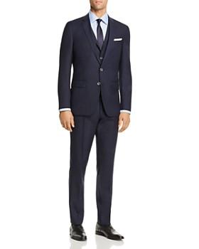BOSS - Hutson/Gander Graphic Solid 3-Piece Slim Fit Suit