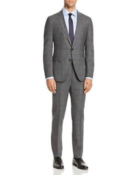 BOSS - Novan/Ben Plaid Windowpane Extra Slim Fit Suit