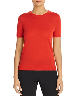 BOSS - Falyssa Short-Sleeve Wool Sweater