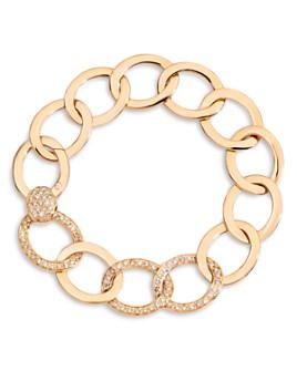 Pomellato - 18K Rose Gold Brera Brown Diamond Chain Link Bracelet