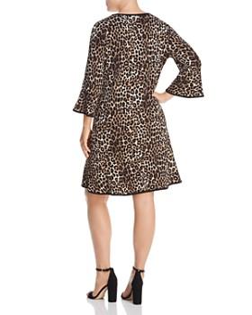 MICHAEL Michael Kors Plus - Leopard-Print Bell-Sleeve Dress