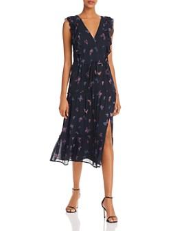 PAIGE - Basil Butterfly-Print Silk Dress