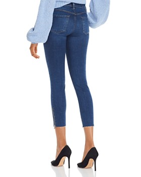 J Brand - 835 Mid-Rise Cropped Skinny Jeans in Zip Austin