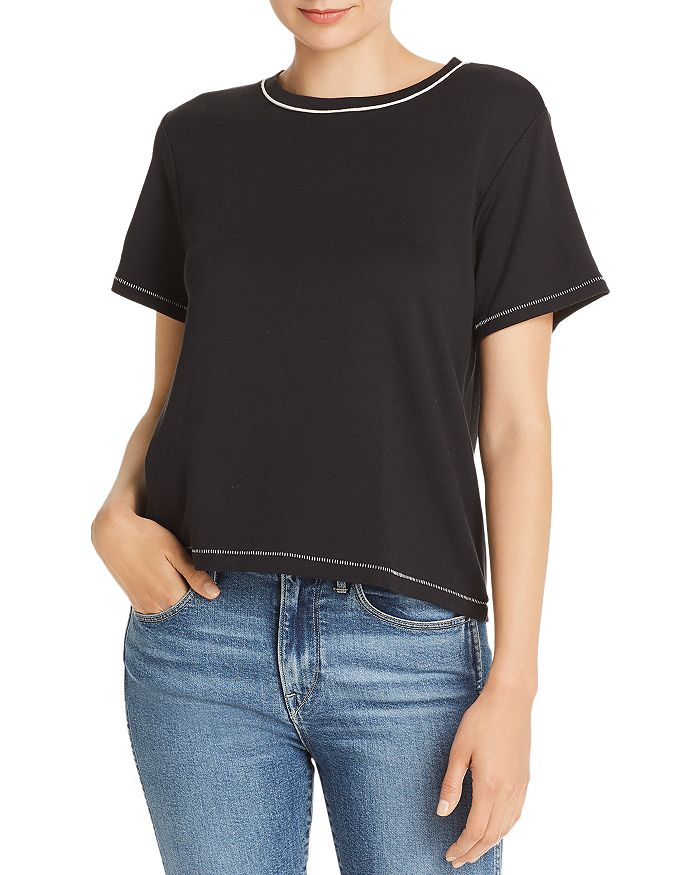 rag & bone - Sporty Contrast-Trim Tee