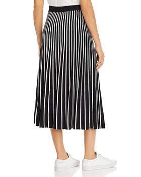 Weekend Max Mara - Ariano Striped Pleated Midi Skirt