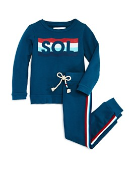 SOL ANGELES - Unisex Waves Sweatshirt & Jogger Pants - Little Kid, Big Kid