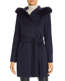 Cinzia Rocca Icons - Fur-Trim Wool & Cashmere Coat