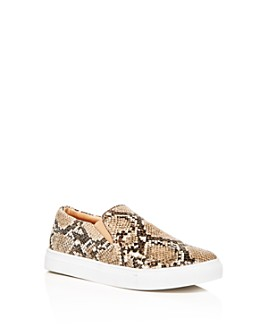 STEVE MADDEN - Girls' JGills Snake-Embossed Slip-On Sneakers - Little Kid, Big Kid