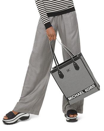 MICHAEL Michael Kors - Logo Checkerboard Pajama-Style Silk Pants