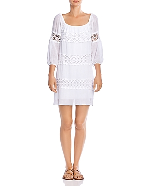 Bailey 44 Mykonos Lace-Inset Shift Dress