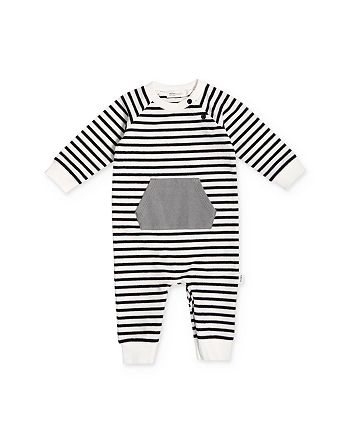 Miles Baby - Unisex Striped Playsuit - Baby