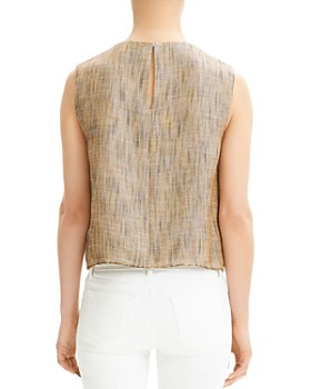 Theory - Cropped Linen Shell
