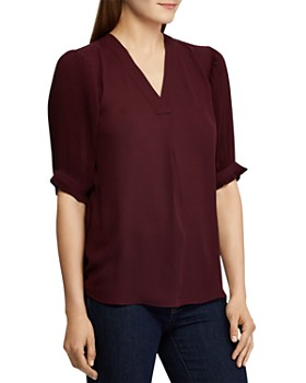 Ralph Lauren - Pleated-Sleeve Top