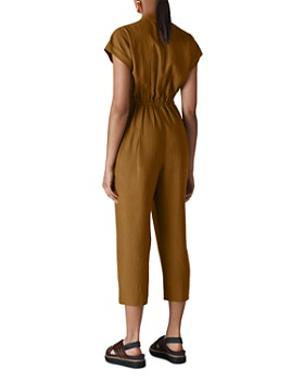 Whistles - Fabiana Cropped Drawstring Jumpsuit