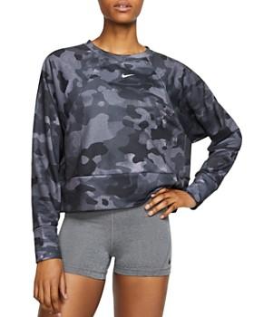 Nike - Icon Camo Cropped Sweatshirt