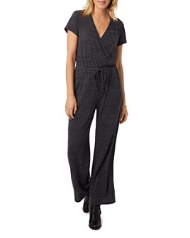ALTERNATIVE - Crossover Wide-Leg Jumpsuit