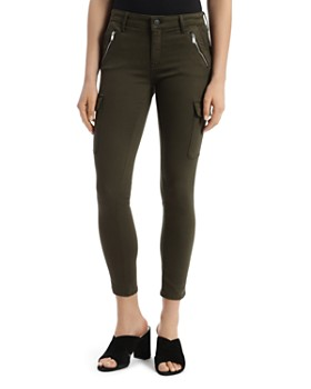 Mavi - Juliette Cargo-Style Twill Jeans in Dark Jade