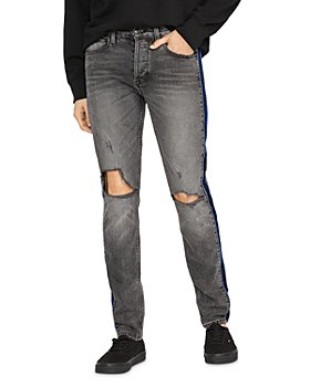 Hudson - Axl Poly Side Seam Skinny Fit Jeans in Back Court