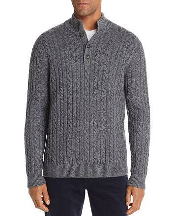 The Men's Store at Bloomingdale's - Half-Button Cable Sweater - 100% Exclusive