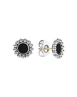 LAGOS - Sterling Silver Maya Black Onyx Stud Earrings