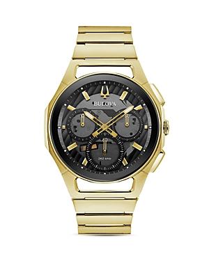 Curv Gold-Tone Link Bracelet Chronograph